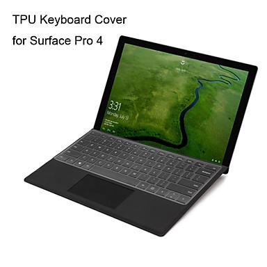 XSKN ultra fino transparente pele teclado TPU pele teclado translúcido claro para o Microsoft Surface Pro 4, nós disposição
