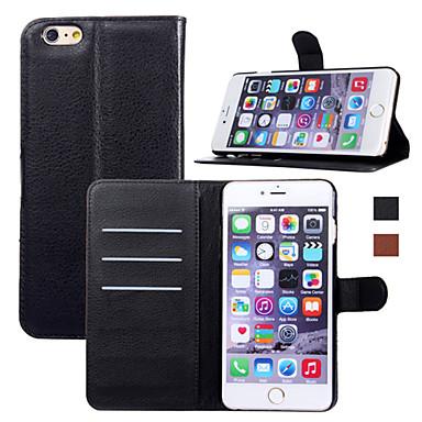 nieuwe mode luxe flip lederen portemonnee stand telefoon geval dekking voor iPhone 6 plus / 6s plus (verschillende kleuren)