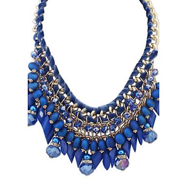 Dames Verklaring Kettingen imitatie Diamond Hars Legering Bohemia Style Met de hand gemaakt Sieraden VoorDagelijks Causaal Afspraakje