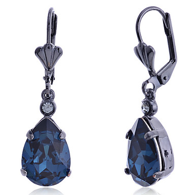 Dames Druppel oorbellen Luxe Modieus Europees Synthetische Edelstenen Kristal Gesimuleerde diamant Legering Drop Sieraden Feest Dagelijks