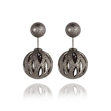 Κουμπωτά Σκουλαρίκια Κοσμήματα Πεπαλαιωμένο Βοημία Style Κράμα Round Shape Χρυσό Μαύρο Ασημί Κοσμήματα Για Πάρτι Καθημερινά Causal1