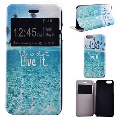 vida na capa de corpo inteiro padrão de mar de couro pu com suporte para o iPhone 6 mais iphone / 6s mais