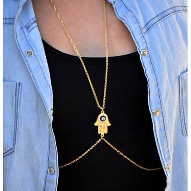 Dames Lichaamssieraden Buikketting Body Chain / Belly Chain Kristal imitatie Diamond Sexy Modieus Gouden Sieraden Dagelijks Causaal1