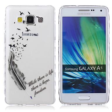 hoesje Voor Samsung Galaxy Samsung Galaxy hoesje Transparant Patroon Achterkant Woord / tekst TPU voor A5 A3