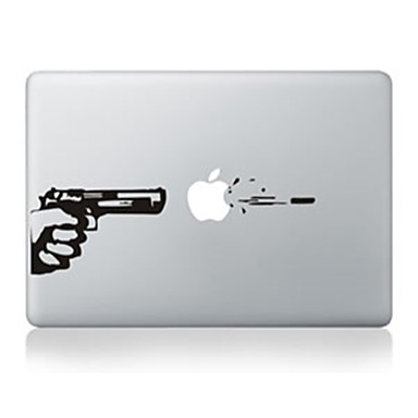 pistool ontwerp decoratieve skin sticker voor macbook 13