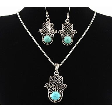 Heren Dames Sieraden Set Turkoois Legering Dagelijks Causaal Oorbellen Kettingen Kostuum juwelen