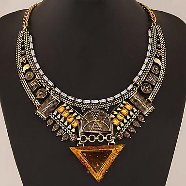 billige Mode Halskæde-Dame Krave Erklæring Halskæder Erklæring Damer Asiatisk Europæisk Syntetiske ædelstene Legering Guld Sølv Halskæder Smykker Til