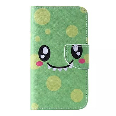 cartoon smiley patroon telefoon leer voor Samsung Galaxy j5