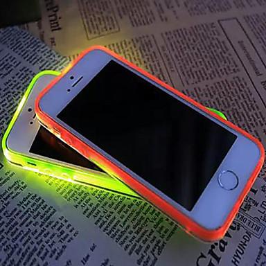nova chamada viseira levou piscar caso da tampa traseira transparente TPU para iphone 6plus / 6s mais (cores sortidas)