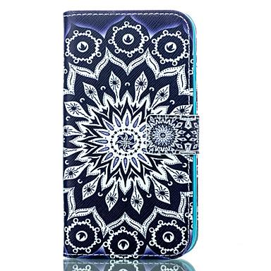 Voor Samsung Galaxy hoesje Kaarthouder / Portemonnee / met standaard / Flip / Patroon hoesje Volledige behuizing hoesje Mandala PU-leer