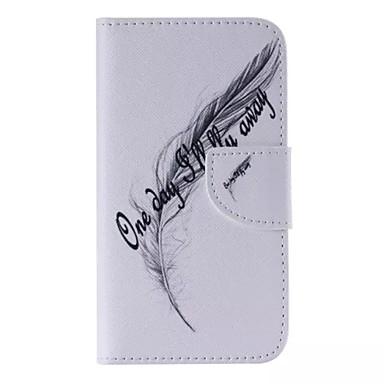 Voor Samsung Galaxy hoesje Kaarthouder / Portemonnee / met standaard / Flip / Patroon hoesje Volledige behuizing hoesje Veer PU-leer voor