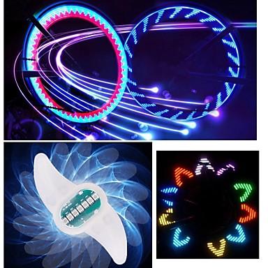 549 Led światła Rowerowe Oświetlenie Kół Bike Spoke Light Kolarstwo Zmieniające Się Kolory Cr2032 90 Lm Bateria Kolarstwo Rower światła