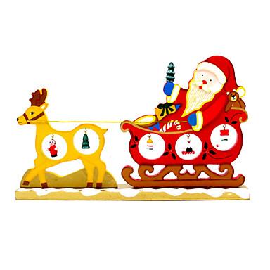 rajzfilm fa karácsonyi szarvas húzza szekerek dísztárgy asztali dekorációs díszek szállít kreatív vicces újdonság játékok