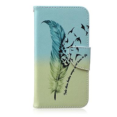 Para Samsung Galaxy Capinhas Porta-Cartão / Carteira / Com Suporte / Flip / Estampada Capinha Corpo Inteiro Capinha Pena Couro PU Samsung