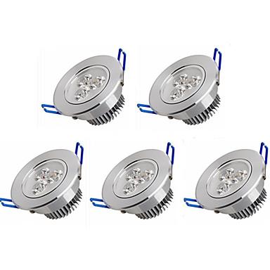 5pçs 3W 350 lm Lâmpada de Embutir 3 leds LED de Alta Potência Branco Quente Branco Frio AC 100-240V