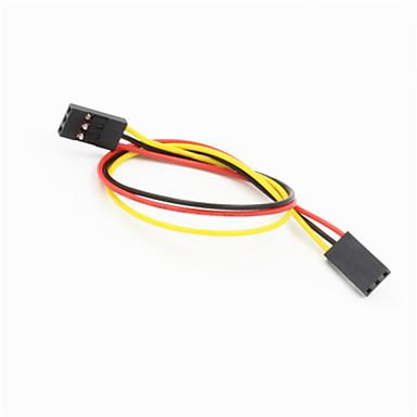 DuPont 3-pins 2.54mm vrouwelijke aan vrouwelijke extensie aderige kabel voor Arduino- (20cm)