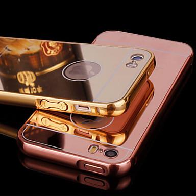 metalen frame en spiegel plating backplane mobiele telefoon Case voor iPhone 5 / 5s (diverse kleuren)