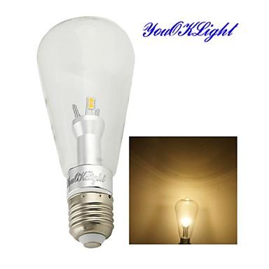 6W E26/E27 Lâmpada Redonda LED B 12 SMD 5050 500 lm Branco Quente Decorativa AC 85-265 V 1 pç