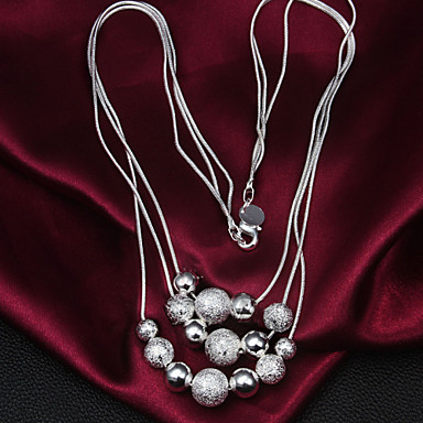 Dames Verklaring Kettingen Sterling zilver Verklaring Kettingen Bruiloft Feest Dagelijks Causaal Kostuum juwelen