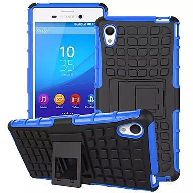TPU + PC hybride stevige rubberen bekleding staan harde kaft gevallen voor de Sony Xperia m4 aqua