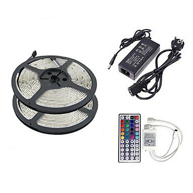 z®zdm 2 x 5m 150x5050 SMD RGB LED strip licht en 44Key afstandsbediening eu ons uk au (AC110-240V)