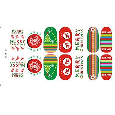 Abstract / Schattig / Punk / Bruiloft - Vinger - 3D Nagelstickers - Andere - 6 - stuks 15*7.5 - (cm)