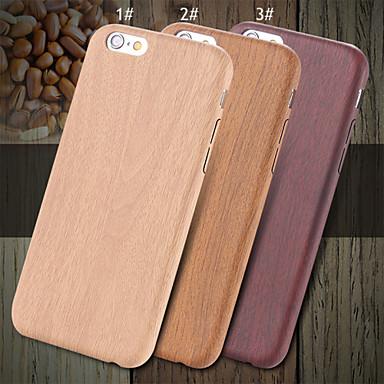 Capinha Para Apple iPhone X iPhone 8 iPhone 8 Plus iPhone 6 iPhone 6 Plus Ultra-Fina Capa traseira Madeira Rígida PU Leather para iPhone