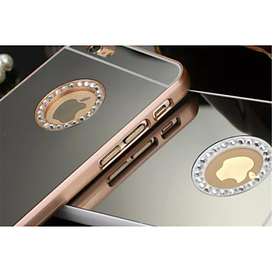 hoesje Voor iPhone 5 Apple iPhone 5 hoesje Strass Beplating Spiegel Achterkant Effen Kleur Hard PC voor iPhone SE/5s iPhone 5