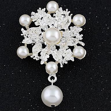 Kadın's - Simüle Elmas Lüks, Vintage, Moda Broş Beyaz Uyumluluk Parti / Özel Anlar