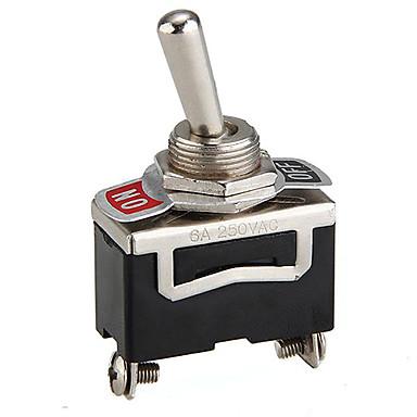 Lourds de l'interrupteur à bascule de film de 5pcs on / off voiture tableau de bord spst métal léger 12 volts