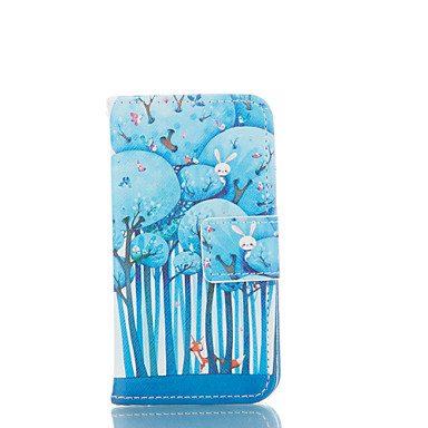 hoesje Voor iPhone 5 Apple iPhone 5 hoesje Kaarthouder Portemonnee met standaard Flip Patroon Volledig hoesje Cartoon Hard PU-nahka voor