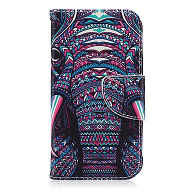 Voor Samsung Galaxy hoesje Kaarthouder / Portemonnee / met standaard / Flip / Patroon hoesje Volledige behuizing hoesje Olifant PU-leer