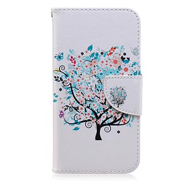 hoesje Voor Samsung Galaxy Samsung Galaxy hoesje Kaarthouder Portemonnee met standaard Flip Patroon Volledig hoesje Boom PU-nahka voor J7