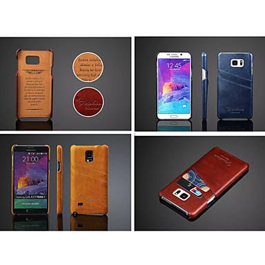 Para Samsung Galaxy Note Porta-Cartão Capinha Capa Traseira Capinha Cor Única Couro PU Samsung Note 5 / Note 4