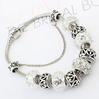 Femme Perles Bracelets Rigides - Mode Bracelet Argent Pour Regalos de Navidad Quotidien Décontracté