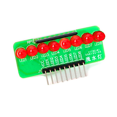 8 liderada pelo módulo microcontrolador faixa de luz vermelha - verde + vermelho