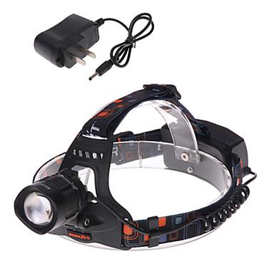1 Lanternas de Cabeça Luzes de Bicicleta Farol Dianteiro LED 1200 lm 3 Modo Cree XM-L T6 Com Carregador Zoomable Foco Ajustável