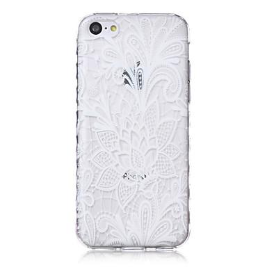 ondas padrão de flor repolho escorregar pega TPU caso de telefone macio para iphone 5c