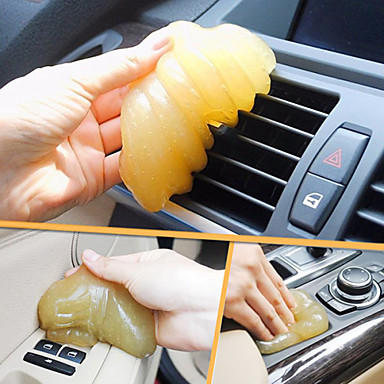 ZIQIAO Magic Car Vent Air Outlet Storage Box Panel Door Handle Dust Glue Cleaner Tool For(Random Color)
