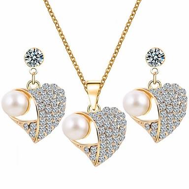 Mulheres Strass Conjunto de jóias Brincos Colares - Para Casamento Festa Aniversário Noivado Presente Diário Casual