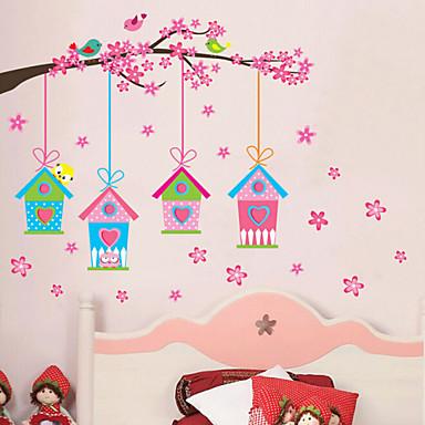 Landschap Kerstmis Bloemen Feest Muurstickers Vliegtuig Muurstickers Decoratieve Muurstickers Fotostickers, Vinyl Huisdecoratie