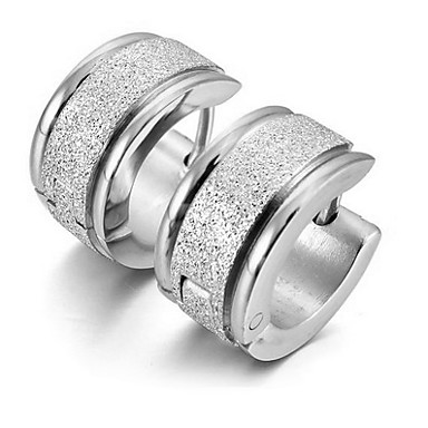 Men's Hoop Earrings Earrings - Stainless Steel Vintage, Party, Work Silver For Gift