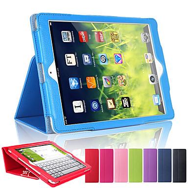 케이스 제품 Apple 아이 패드 미니 4 아이 패드 미니 3/2/1 아이 패드 4/3/2 iPad Air 2 iPad Air 스탠드 자동 슬립 / 웨이크 기능 전체 바디 케이스 한 색상 하드 PU 가죽 용 iPad Mini 4 iPad Mini