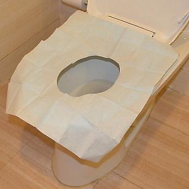 10 adet dipoable tuvalet yemek yemek için kapak mat taşınabilir su geçirmez afety tuvalet yemek pedi / kamp