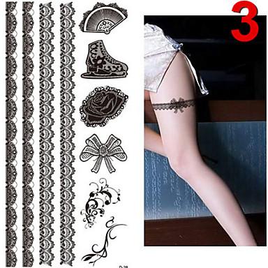 Outros - JT - Tatuagem Adesiva - Non Toxic / Estampado / Purpurina / Lombar / Waterproof / Natal - paraBebê / Criança / Feminino / Girl /