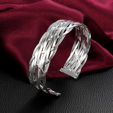 Pulseiras Bracelete Prata de Lei Casamento / Pesta / Diário / Casual Jóias Dom Prateado,1pç