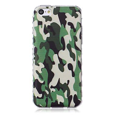 ondas padrão de camuflagem escorregar pega TPU caso de telefone macio para iphone 5c