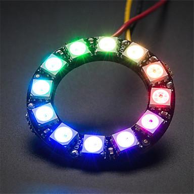 ws2812 5050 rgb 12 geleide round ontwikkeling lamp board - zwart