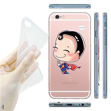 Capinha Para Capinha iPhone 5 Transparente Estampada Capa Traseira Desenho Animado Macia TPU para iPhone SE/5s iPhone 5