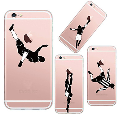 Capinha Para Apple iPhone 6 iPhone 6 Plus Transparente Estampada Capa traseira Brincadeira Com Logo da Apple Macia TPU para iPhone 6s